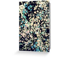 Nature Pattern # 5 - Birch 2 (Blue) Greeting Card