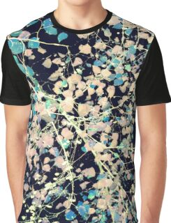 Nature Pattern # 5 - Birch 2 (Blue) Graphic T-Shirt