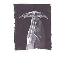 Doctor Who vampire under umbrella Photographic Print