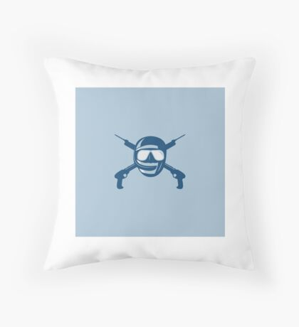 Spearfishing cross spearguns logo Throw Pillow