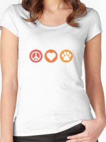 Peace Love Pooch Original Shirt Women's Fitted Scoop T-Shirt