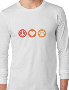 Peace Love Pooch Original Shirt Long Sleeve T-Shirt