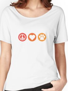Peace Love Pooch Original Shirt Women's Relaxed Fit T-Shirt