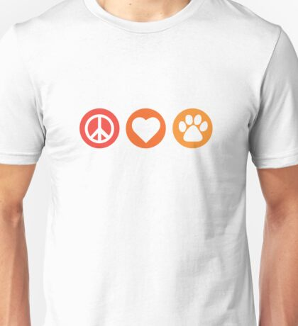 Peace Love Pooch Original Shirt Unisex T-Shirt