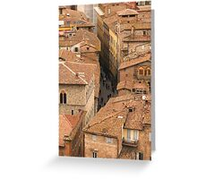 Siena - From the Campanile Greeting Card