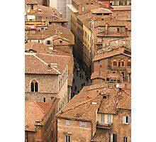 Siena - From the Campanile Photographic Print