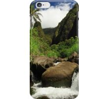 Waterfall At The Iao Needle iPhone Case/Skin
