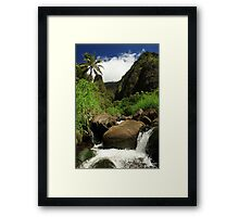 Waterfall At The Iao Needle Framed Print