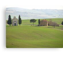 Pienza - Church on a Tuscan hillside Canvas Print