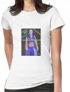 Bayley - Hey Bayley I Wanna Know If You'll Be My Girl WRESTLING  Womens Fitted T-Shirt