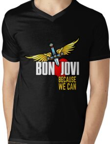 Bon Jovi Because We Can Mens V-Neck T-Shirt