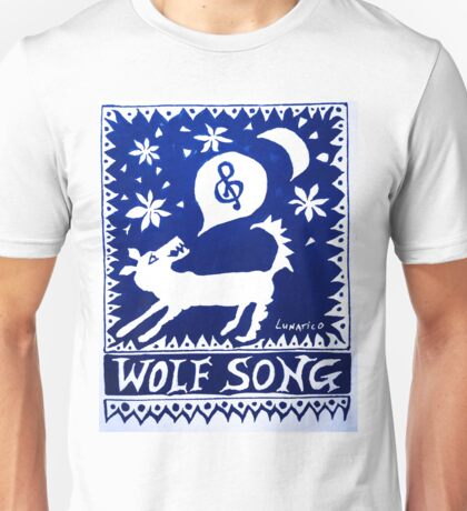 Wolf Song Blue Unisex T-Shirt