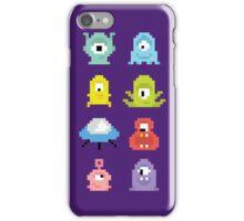 Pixel UFO aliens iPhone Case/Skin