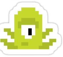 Pixel UFO aliens Sticker