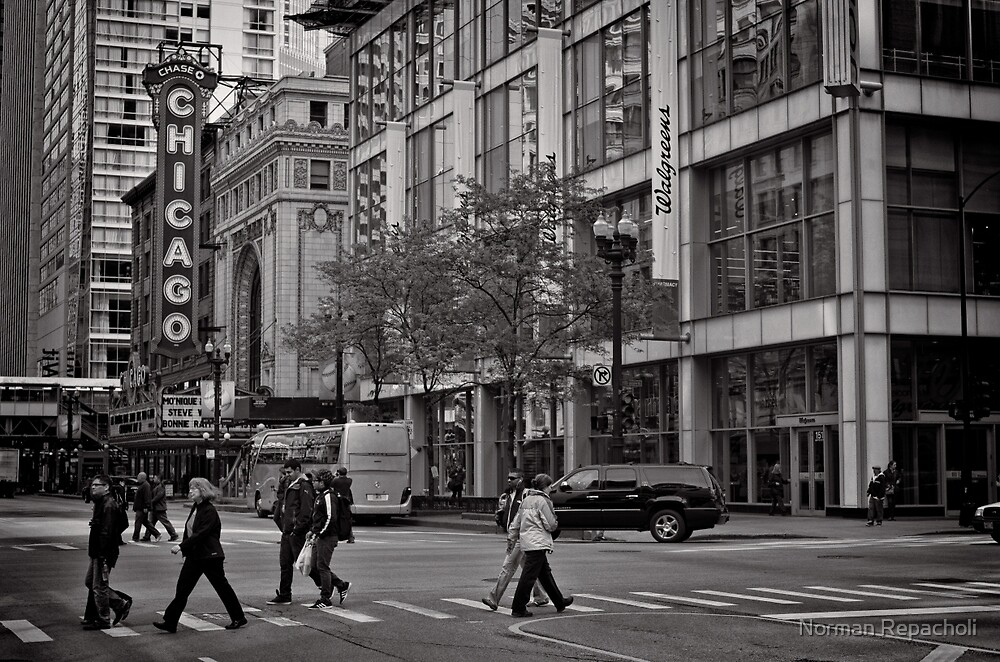 Crossing Chicago - USA by Norman Repacholi