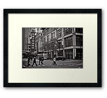 Crossing Chicago - USA Framed Print