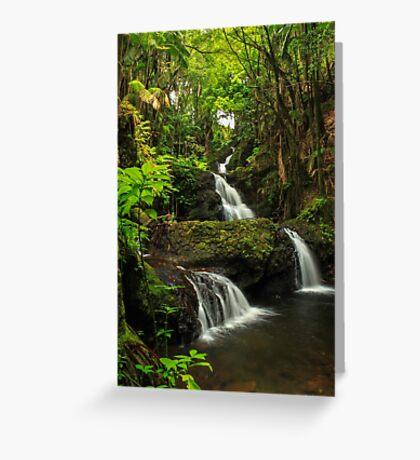 Onomea Falls Greeting Card