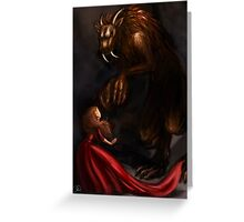 Beauty Meets the Beast Greeting Card