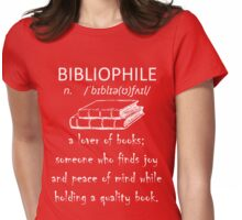Bibliophile Womens Fitted T-Shirt