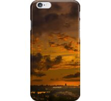 Sunset over Chestnut Hill Reservoir. iPhone Case/Skin