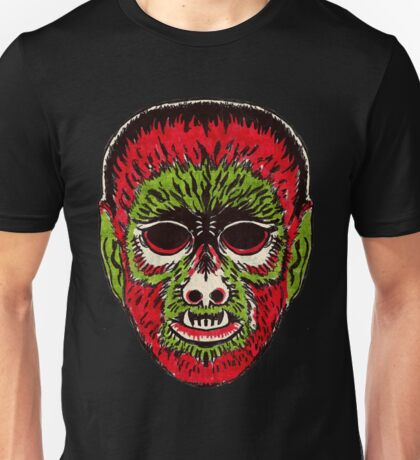 Wolfman Vintage Halloween Mask Unisex T-Shirt