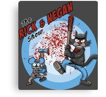 the Rick and Negan Show Canvas Print