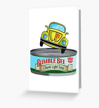 Transformers G1 Bumblebee Tuna Greeting Card