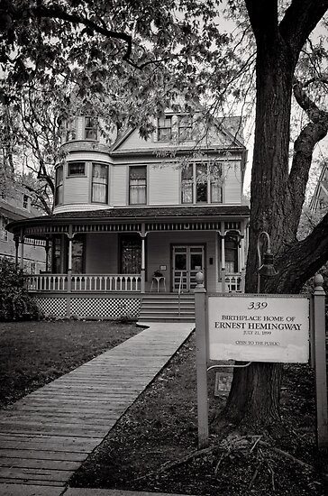 The home of Hemingway, Oak Park Chicago by Norman Repacholi