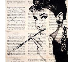 Audrey Hepburn by Krzyzanowski Art