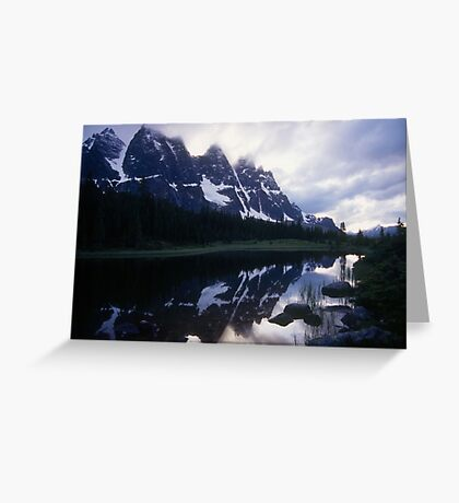 Amethyst Lake and the Ramparts Greeting Card
