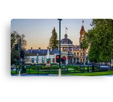 Beautiful Bendigo Icons at Sunset Canvas Print