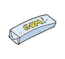 cartoon chewing gum Photographic Print