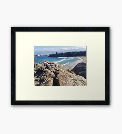 Beach Wedding Miniatures Framed Print