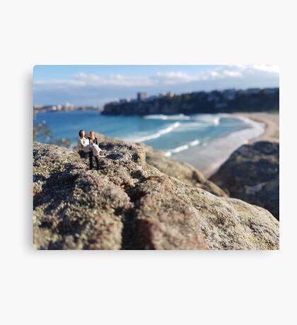 Beach Wedding Miniatures Canvas Print
