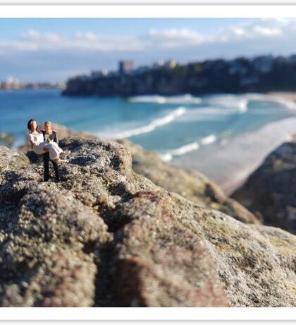 Beach Wedding Miniatures Sticker