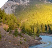 Bow River and Rundle Mountain Sticker