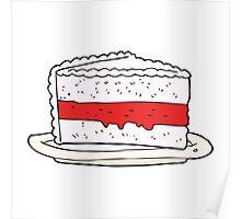 cartoon cake Poster