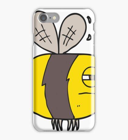 cartoon unhappy bee iPhone Case/Skin