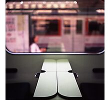 Train table and station Hasselblad medium format 120 square 6x6 negative c41 color analogue photograph Photographic Print