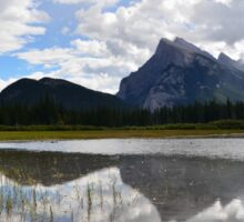Mount Rundle as seen from Vermilion Lakes Sticker