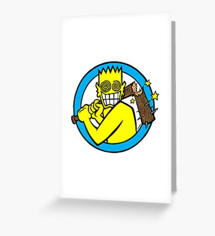 Allroy Broken Bat Greeting Card