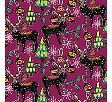 festive deer purple Photographic Print