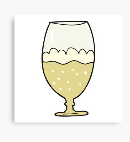 cartoon beer in glass Canvas Print