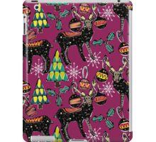 festive deer purple iPad Case/Skin