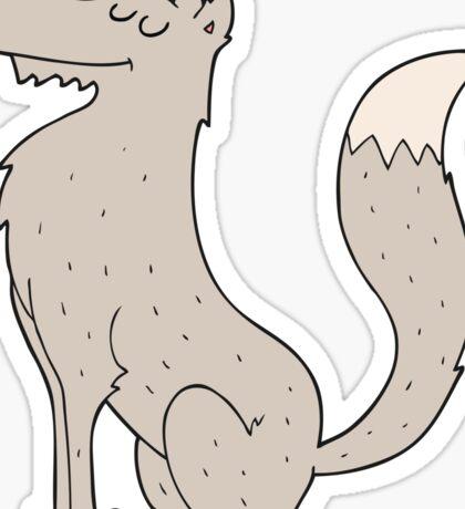 cartoon wolf Sticker