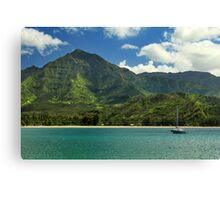 Ready To Sail In Hanalei Bay Canvas Print