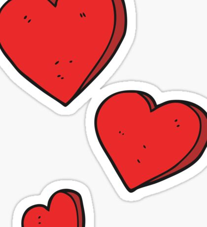 cartoon hearts Sticker