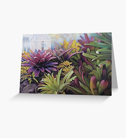 Preying in the Bromeliads Greeting Card