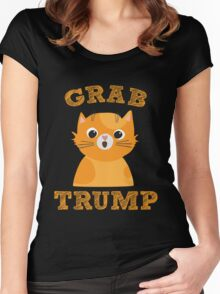 Grab Trump - Funny Election Political  Women's Fitted Scoop T-Shirt