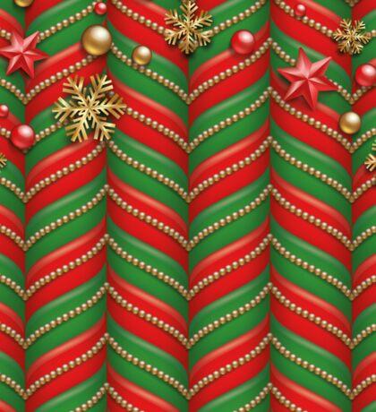 Festliches rot-grünes Weihnachtsmuster Sticker